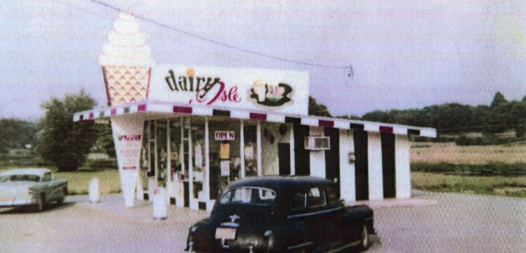 Dairy Isle, from the 60s before the name change