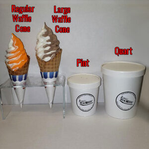 Soft Ice Cream Comparative Sizes