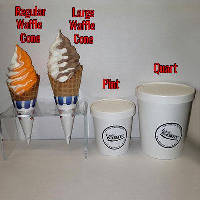 Soft Ice Cream Comparative Sizes